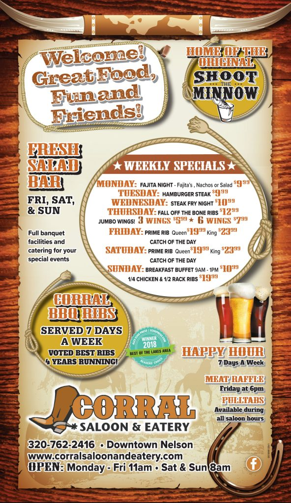 corral nightly specials